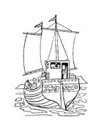 Nave e barca da colorare 83