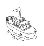 Nave e barca da colorare 84