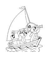 Nave e barca da colorare 86