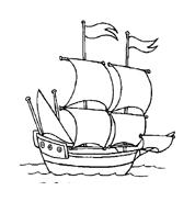 Nave e barca da colorare 90