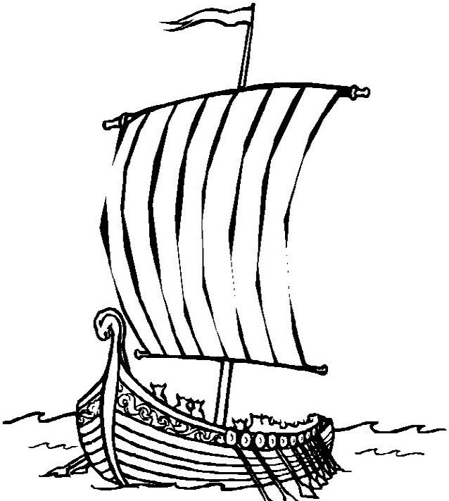 Nave e barca da colorare 91