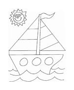 Nave e barca da colorare 92
