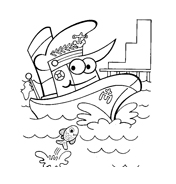 Nave e barca da colorare 94