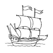 Nave e barca da colorare 95