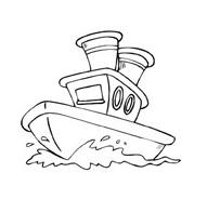 Nave e barca da colorare 97