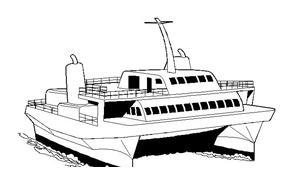Nave e barca da colorare 108