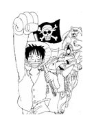 One piece da colorare 30