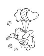 Gli orsetti del cuore da colorare 114