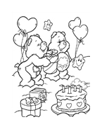 Gli orsetti del cuore da colorare 131