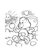 Gli orsetti del cuore da colorare 140