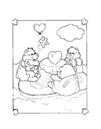 Gli orsetti del cuore da colorare 145