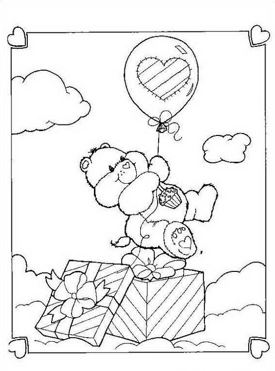 Gli orsetti del cuore da colorare 148