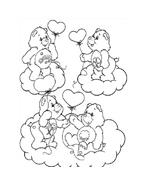 Gli orsetti del cuore da colorare 152