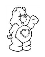 Gli orsetti del cuore da colorare 170