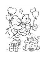Gli orsetti del cuore da colorare 186