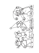 Orsetto bruno da colorare 10