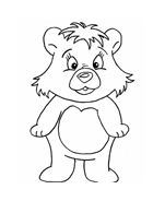 Orso da colorare 132
