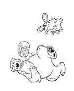 Orso bear da colorare 7