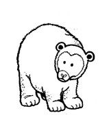 Orso da colorare 144