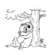 Orso yoghi da colorare 6