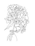 Fiore da colorare 338