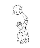 Basketball da colorare 34
