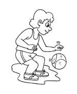 Basketball da colorare 45