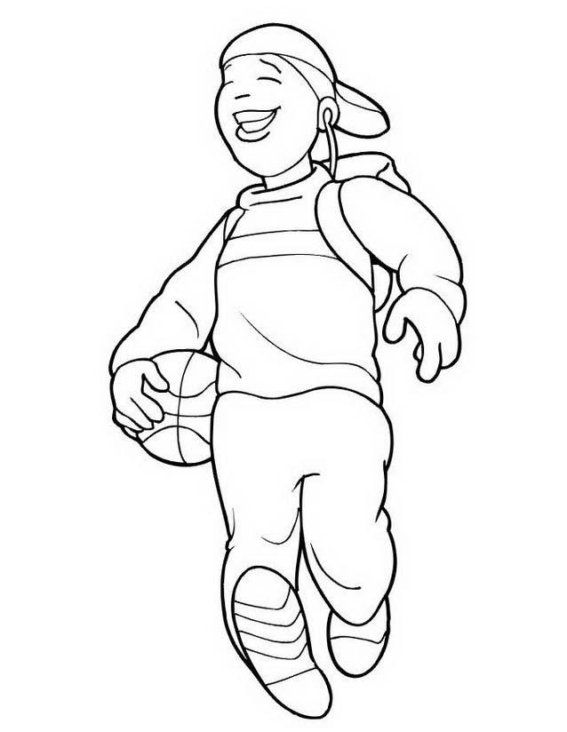 Basketball da colorare 48