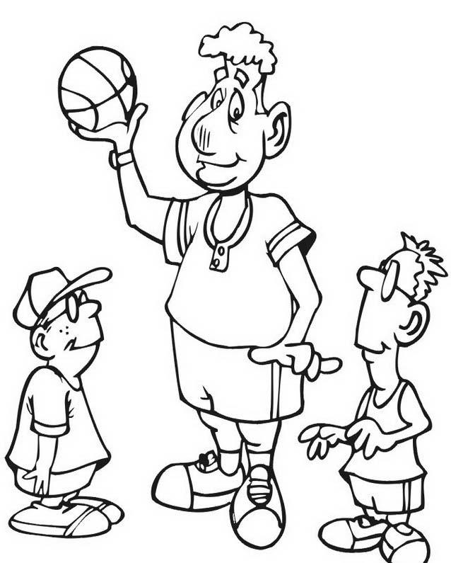 Basketball da colorare 49