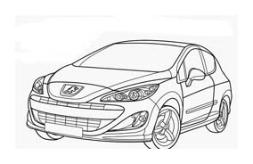 Automobile da colorare 374
