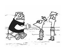 Phineas e Ferb da colorare 12