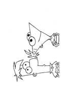 Phineas e Ferb da colorare 14