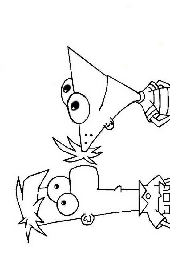 Phineas ferb da colorare 14