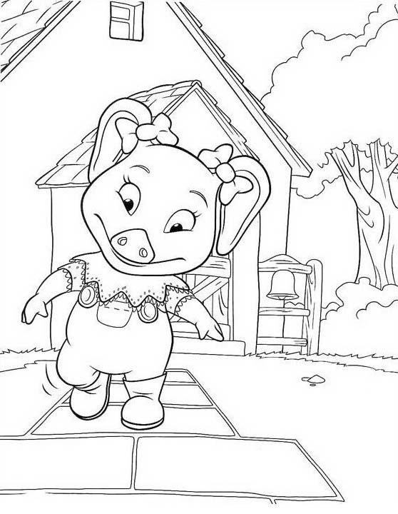 Piggly wiggly da colorare 48