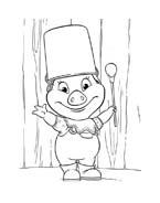 Le avventure di Piggley Winks da colorare 72