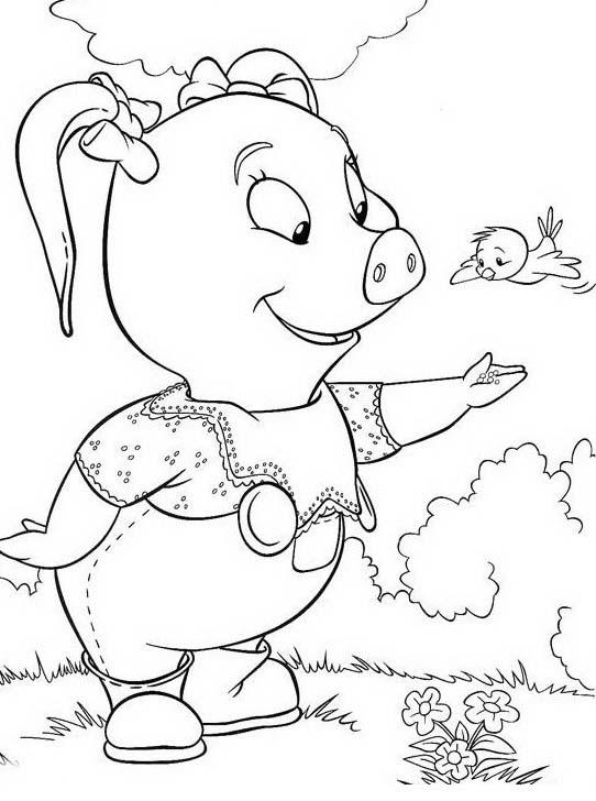 Piggly wiggly da colorare 73