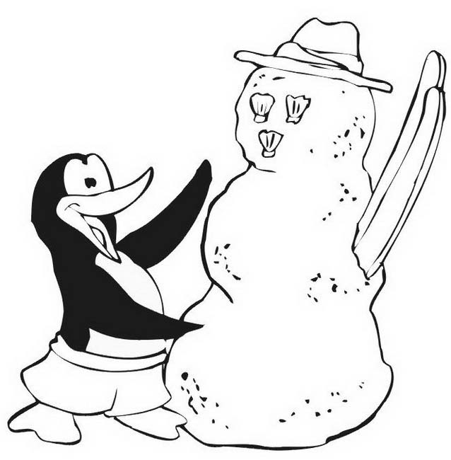 Pinguino da colorare 54