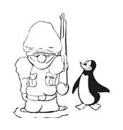 Pinguino da colorare 56