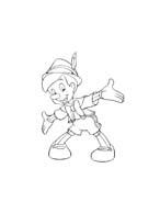Pinocchio da colorare 87