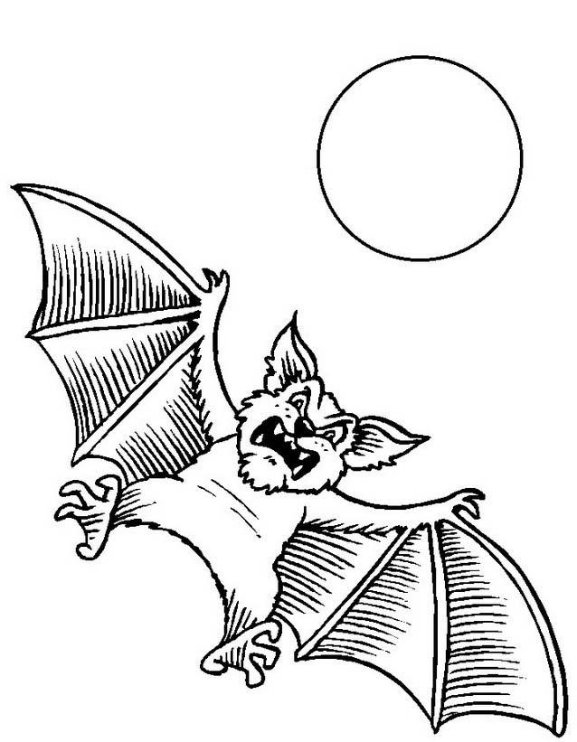 Pipistrello da colorare 13