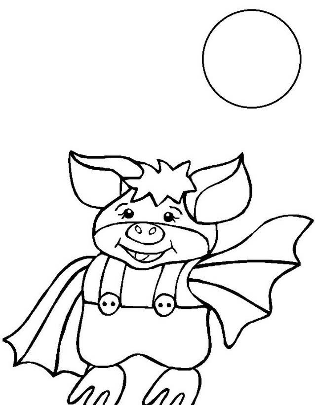 Pipistrello da colorare 20
