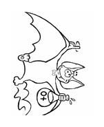 Pipistrello da colorare 22