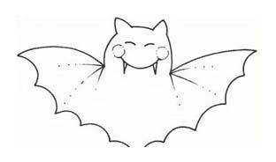 Pipistrello da colorare 27