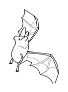 Pipistrello da colorare 28