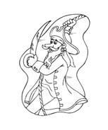 Pirata da colorare 4