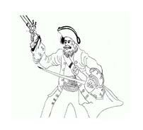 Pirata da colorare 10