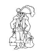 Pirata da colorare 16