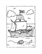 Pirata da colorare 21