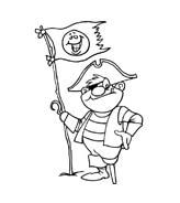 Pirata da colorare 35