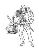Pirata da colorare 48
